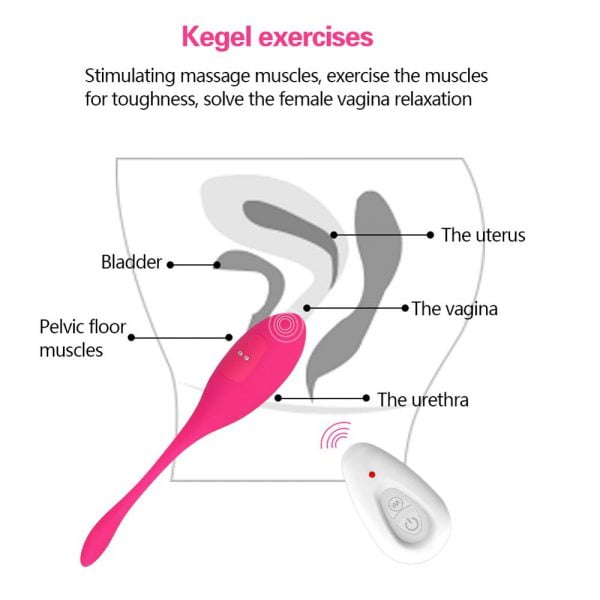 Vibrating Egg Bullet Vaginal Kegel Exercise Balls