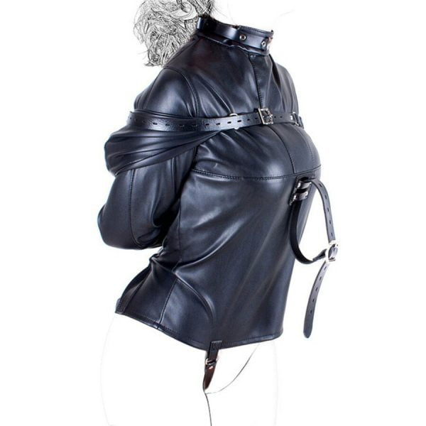 Unisex Doctor Patient Role Play Leather Arm Binder Restraint