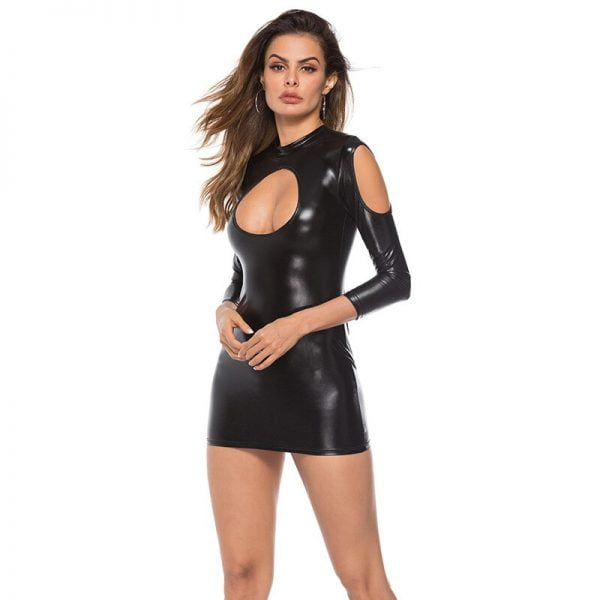 Latex Dress For Women Sexy Lingerie Leather Bodysuit