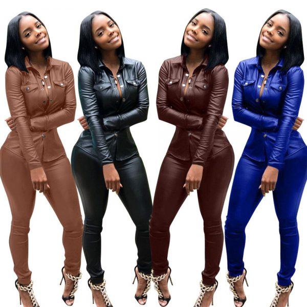 Casual Women Set Tracksuit Long Sleeve Short